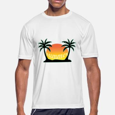 Palm Hammock Summer under palm trees | Hammock Palm Sun - Men's Moisture Wicking Performance T-Shirt