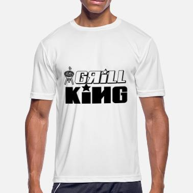 Grill God grill king of the grill - Men's Moisture Wicking Performance T-Shirt