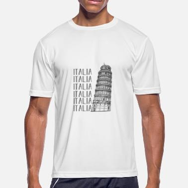 Lean Present Leaning Tower of Pisa gift - Men's Moisture Wicking Performance T-Shirt