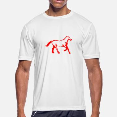 Boobies Sport cyber booby horsered - Men's Moisture Wicking Performance T-Shirt