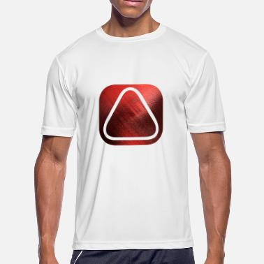 SQUARES VIERECKE ROT 20 - Men's Moisture Wicking Performance T-Shirt