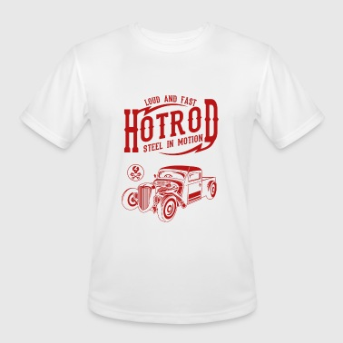 Kids Hotrod Steel In Motion Hotrod Loud And Fast Design - Men's Moisture Wicking Performance T-Shirt
