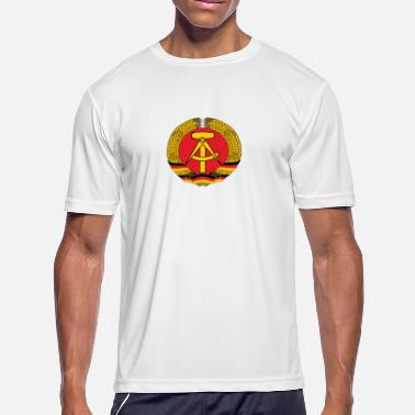East Germany National Coat Of Arms Of East Germany - Men's Moisture Wicking Performance T-Shirt