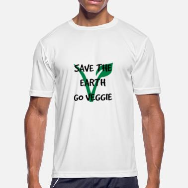 Vegan Save Earth Save the earth go vegetarian - Men's Sport T-Shirt