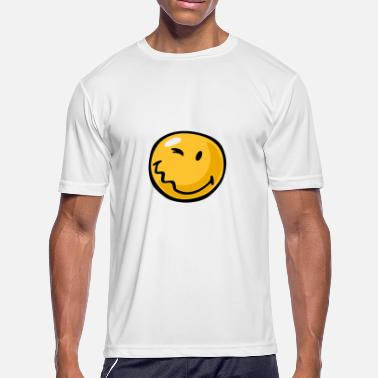 Wink-emoji SmileyWorld Winking Smiley - Men's Moisture Wicking Performance T-Shirt