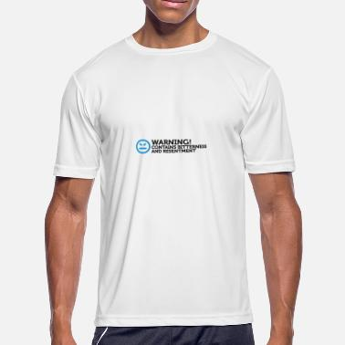 Antipathy Warning - Contains Frustration And Hatred - Men's Moisture Wicking Performance T-Shirt