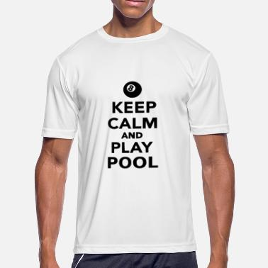Playing Pool play pool - Men's Moisture Wicking Performance T-Shirt