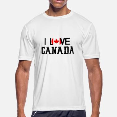 Hockey Auntie I Love Canada Mapleleaf Giftidea - Men's Moisture Wicking Performance T-Shirt