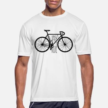 Cycle Want To Ride - Men's Sport T-Shirt