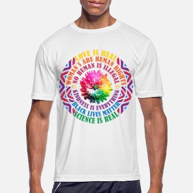Love is Real | Black Lives Matter gift idea - Men's Sport T-Shirt