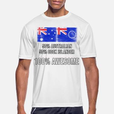 Cook 50% Australian 50% Cook Islander 100% Awesome - Men's Sport T-Shirt