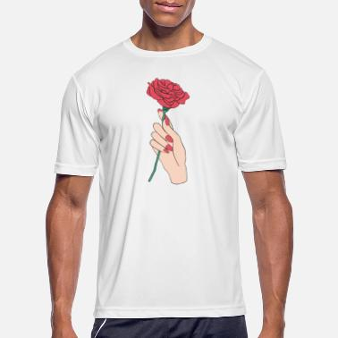 HAND HOLDING ROSE - Men's Sport T-Shirt