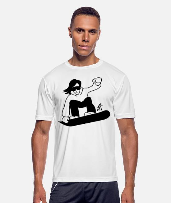 Boarder T-Shirts - Snowboard - Men's Sport T-Shirt white