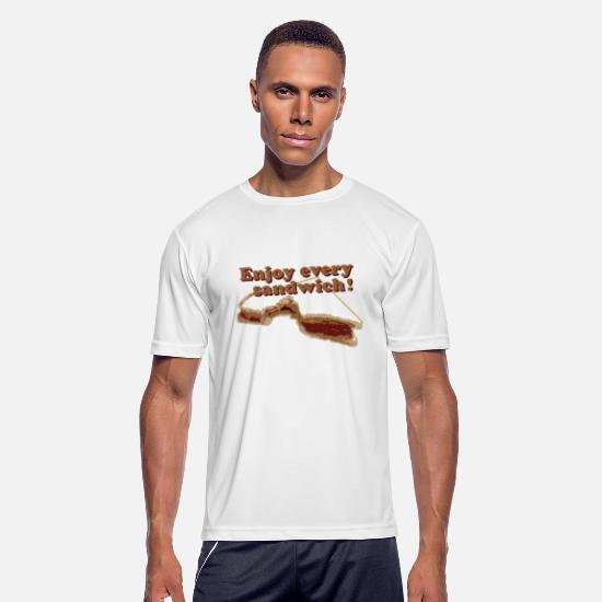 Sandwich T-Shirts - Enjoy every sandwich - Men's Sport T-Shirt white