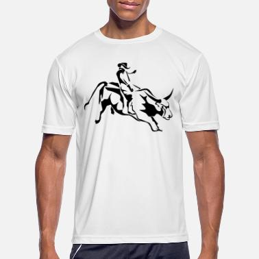 Rodeo Bull Riding 1 - Men's Sport T-Shirt