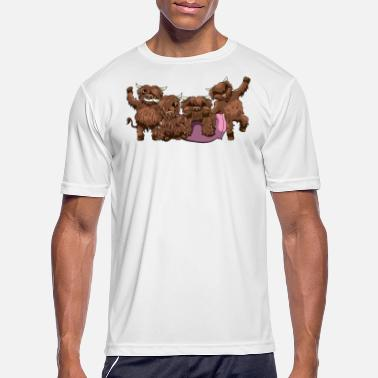 Highland Highland Cow Friends Scottish Heilan Cattle - Men's Sport T-Shirt