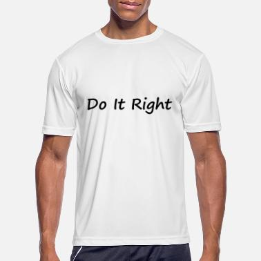Rights For Black Do It Right black - Men's Sport T-Shirt
