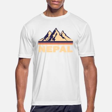 Countries nepal mountains asia gift - Men's Sport T-Shirt