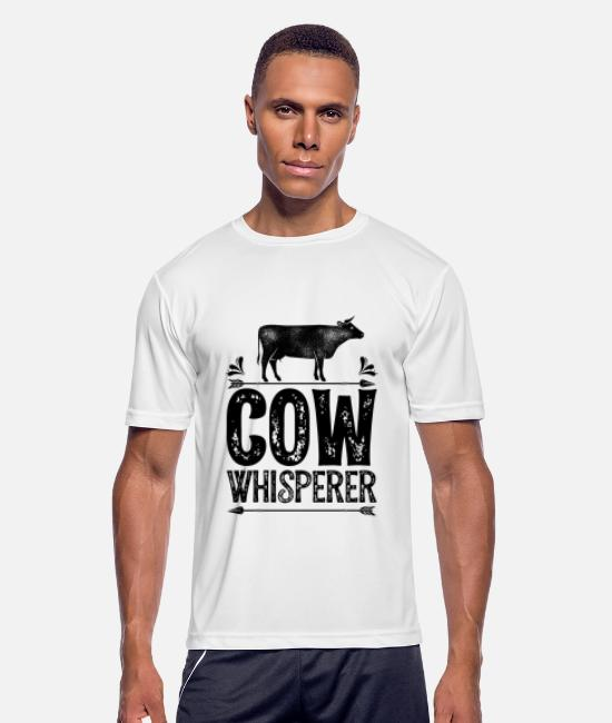 Dairy Farm T-Shirts - I Just Really Like Cows OK T shirt Cow Lover Farm - Men's Sport T-Shirt white