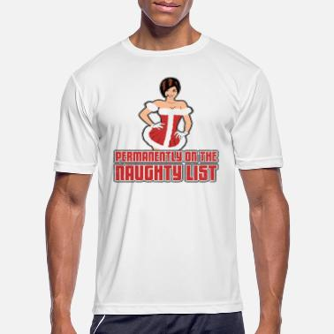 Regret Naughty Christmas List - Men's Sport T-Shirt