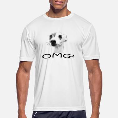 Funny Dog Saying funny dog saying omg - Men's Sport T-Shirt