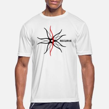 Recurve Recurve Eccentric (Archery by BOWTIQUE) - Men's Sport T-Shirt