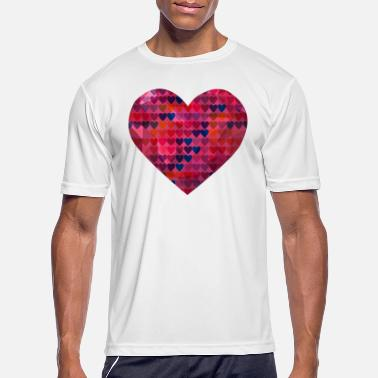 3d Abstract 3D Heart Design - Men's Sport T-Shirt