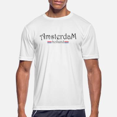 I Love Amsterdam amsterdam holland nice to give as a souvenir - Men's Sport T-Shirt
