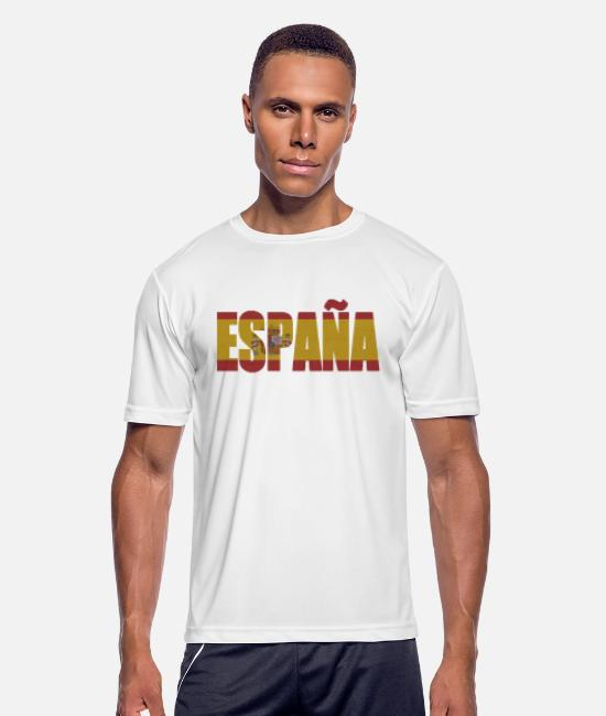 Cuba T-Shirts - # ESPAÑA - Men's Sport T-Shirt white