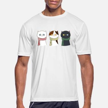 Soft Paw Three Cute Cats - Men's Sport T-Shirt