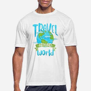 Traveler Travel Globe - Men's Sport T-Shirt