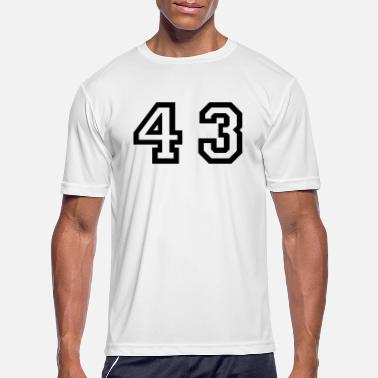 Forties Number - 43 - Forty Three - Men's Sport T-Shirt