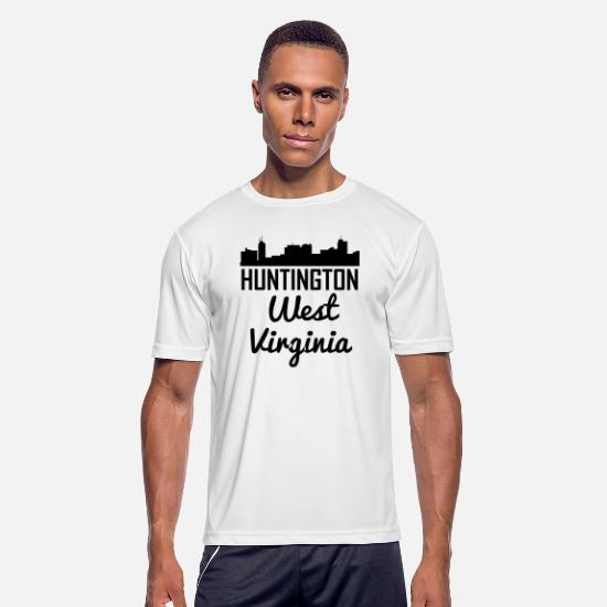 West Virginia T-Shirts - Huntington West Virginia Skyline - Men's Sport T-Shirt white