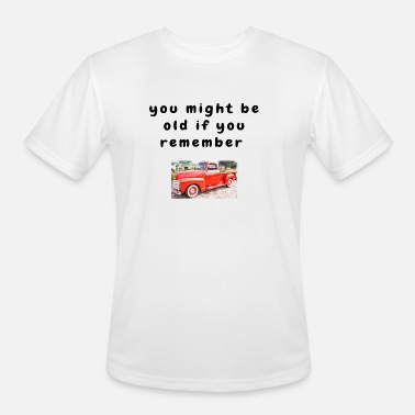 Funny Baby Boomer Quotes Getting Old Chevy Truck Men\'s Premium T-Shirt -  heather gray