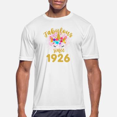 1926 Fabulous Unicorn Birthday Shirt Old BDay Since 1926 funny shirts gifts - Men's Sport T-Shirt