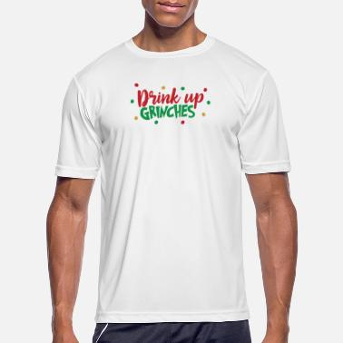 Drink Up Grinches Muscle Shirt Funny Christmas Drinking Men/'s