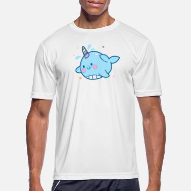 Los Funny Narwhal Cut You Unicorn Of The Sea Gift - Men's Sport T-Shirt