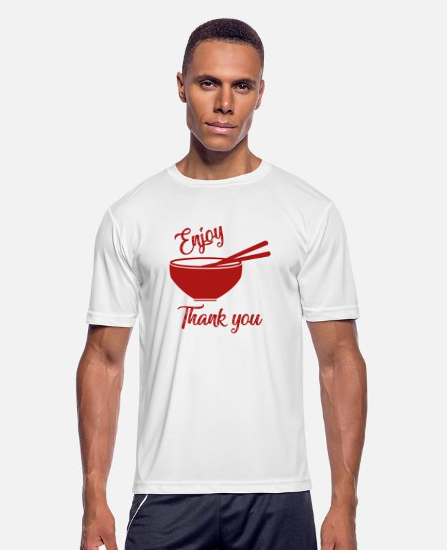Cookie T-Shirts - CHINESE FOOD - Men's Sport T-Shirt white