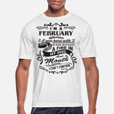 I m a february woman i was born with my heart on m - Men's Sport T-Shirt