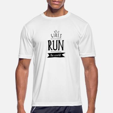 Girl Running Girls run the world - Men's Sport T-Shirt