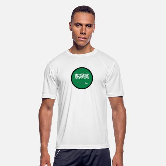 Saudi Arabia T-Shirts - Under The Sign Of Saudi Arabia - Men's Sport T-Shirt white