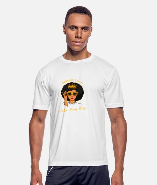 Queen T-Shirts - Afro Latina and Proud latin america african gift - Men's Sport T-Shirt white