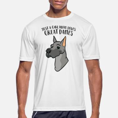 Great Danes Just a Girl Who Loves Great Danes - Men's Sport T-Shirt