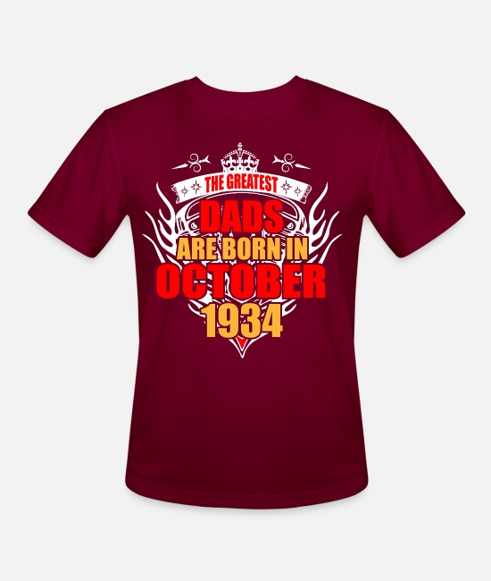 Month T-Shirts - The Greatest Dads are born in October 1934 - Men's Sport T-Shirt burgundy