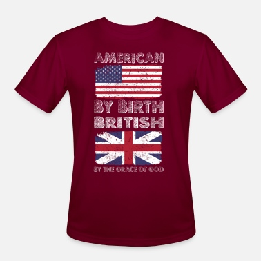 British Heritage American by Birth British by Grace of God Heritage - Men's Sport T-Shirt