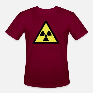 Nuclear Radioactive Warning Symbol - Men's Sport T-Shirt