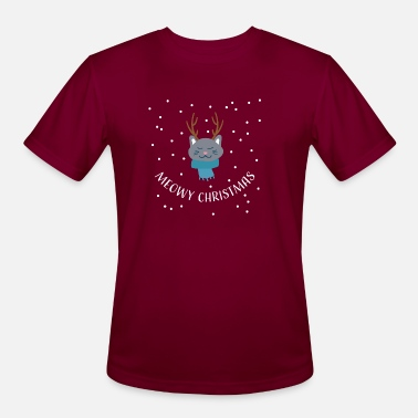 Meowy Christmas cat - Men's Sport T-Shirt