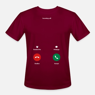 Incoming Call Incoming Call (Use on dark background) - Men's Sport T-Shirt