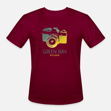 Green Bay camera with heart - Men's Sport T-Shirt
