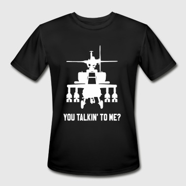 Attach Helicopter - Men's Moisture Wicking Performance T-Shirt